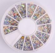 Five Season 3D Nail Art Wheels 1200pcs Colourful Star Shaped Fimo Slice Shaped DIY Decorations
