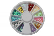 Effect Beauty Dazzles Nail Art Decorations with Wheel - Assorted Size