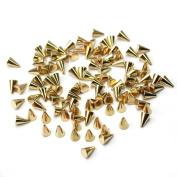 100PCS Metal Punk Cone Nail Art Spikes Bullet Stud Studded Decoration DIY Decor