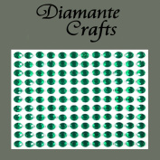 132 x 5mm Dark Green Diamante Self Adhesive Rhinestone Body Vajazzle Gems - created exclusively for Diamante Crafts