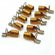 10pcs Chic Fashion Golden Reusable Nail Art Tips Extension Guide Form Tools Hot