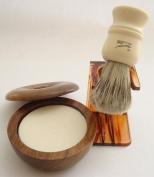 Progress Vulfix 404 Badger/Bristle shaving brush, tortoiseshell dripstand & shaving bowl