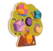 Oops Little Helper 3D Vibrant and Colourful Wooden Tree Puzzle with Various Woodland Wonderland Animals
