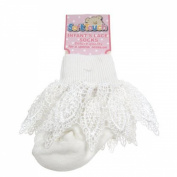 Soft Touch Infant's Lace Socks 0-18mths Cream & White Available