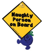 Little Miss Naughty Person on Board Car Sticker with Suction Cup, Baby on Board