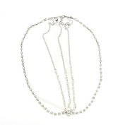 Atdoshop(TM) 1PC Two Links Tassel Pearls And Crystal Hair Band