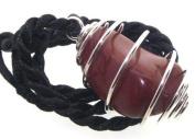 Red Jasper Root Chakra Spiral Pendant