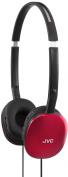 JVC HA-S160-R-E FLATS Lightweight Headphones - Red