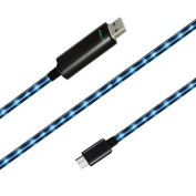 Dexim Visible Green Micro USB Black Cable - Blue