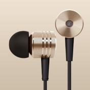 MegaTek® New Original Gold Xiaomi 2nd Piston Earphone Ii Headphone Headset Earbud with Remote & Mic for Smartphone