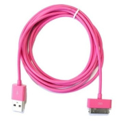 G4GADGET® 2 Metre 30 pin Usb Cable/Lead ( Hot Pink) compatiable for Apple Ipad3, Ipad2, Ipad 3g, 3GS, 4, 4s and Ipod series