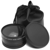 XCSOURCE Macro lens and wide-angle lens 0.45x 58mm + black wide-angle lens pouch for Canon 1DX 5D Mark 5D2 5D3 6D 7D 70D 60D 700D 650D 1100D 1000D 600D 50D 550D 500D 40D 30D 350D 400D 450D 30D 10D new LF37