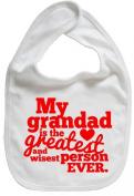 Dirty Fingers, My Grandad is the Greatest, Boy Girl Feeding Bib, White