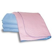 Sonoma Super Absorbent Pink Double Bed Pad with Tuck - In Flaps - 3500ml