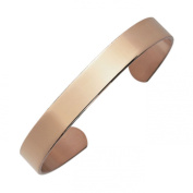 Arthriton PLAIN Solid Pure Copper Bracelet Health Band For Rheumatism & Arthritis 9mm Wide - ML Fits Wrist Up To 22cm