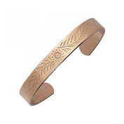 Arthriton Patterned Solid Pure Copper Bracelet Health Band For Rheumatism & Arthritis 9mm Wide - SM Fits Wrist Up To 19cm