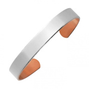 Arthriton Silver Plated Copper Bracelet Health Band For Rheumatism & Arthritis 9.5mm Wide - Three Size Options