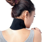 chinkyboo Caltrad Neck Support Health Brace Self Heating Neck Wrap Strap Pain Relief -Black