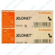 JELONET QTY 10 Individually wrapped sterile paraffin gauze dressing BP