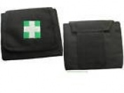 CORDURA BELT POUCH WITH CROSS GLOVES AND FACE SHIELD