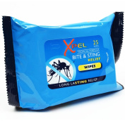 Xpel Bite & Sting Relief Wipes - Pack of 25 Tropical Formula