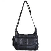 Ladies Leather Shoulder Bag / Handbag with Mobile Phone Pocket.