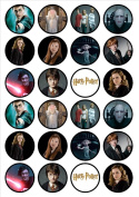 Harry Potter Edible Wafer Rice Paper 24 x 4.5cm Cupcake Toppers/Decorations