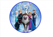 Frozen Edible Wafer Rice Paper 18cm Cake Topper/Decorations