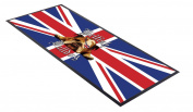 British bulldog union jack design bar runner great for home bar shop cocktail party advertising tool bar mat