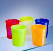 Dishwasher Safe Stackable Neon Coloured Plastic Cups / Beakers / Tumblers