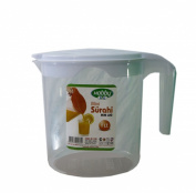 Quality Plastic 1 Litre Multi Purpose Jug with Lid in White