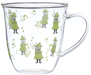 Moomin Valley Characters Snufkin Heat resistant Glass Mug Cup Made in Japan