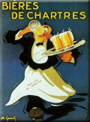 FRENCH VINTAGE METAL SIGN 20X15cm RETRO AD BEER OF CHARTRES