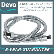 Deva HOS1.5CPW04 1.5m Chrome Flexible Shower Hose for Wide Bore High Flow