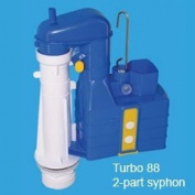 Dudley Turbo 88 20cm 2 part Syphon WC Syphon Duoflush 316985 WRAS Approved