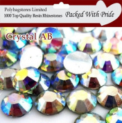 Pack of 1000 x Crystal AB 2mm Crystal Flat Back Rhinestone Diamante Gems *Factory Sealed & Labelled*