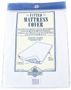 Westward Ho! King Size PVC Fitted Mattress Protector, White