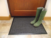 Machine Washable Grey Non Slip Hard Wearing Barrier Mat. Available in 8 sizes