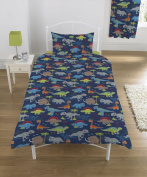 Dinosaur Single Duvet Cover with Matching Pillow Case