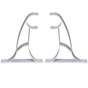 2pcs Metal Curtain Single Pole Drapery Rod Brackets 25mm
