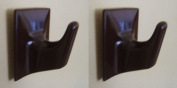 Dark Brown Self Adhesive Hooks - MS59-Square Shaped-Ideal For Tube Type Blind/Fly Curtain/Strip Blind