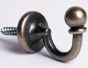 Antique Brass Tie Back Hooks......per pair