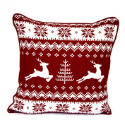 100% Cotton's Brand New Luxury XMAS Cushion Cover Name Deer2 Red Size 46cm x 46cm