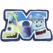 Character World Disney Monsters Inc University Shaped Plush Cushion, Multi-Colour