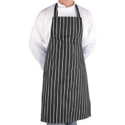 Black & White Stripe Butchers Bib Apron - Great for increasing hygiene levels in your kitchen