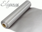 20m Roll Silver Satin Fabric for Weddings, Table Runners, Sashes and Swags