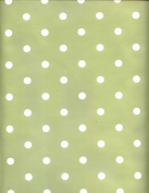 Sage Green Dotty PVC Wipe Clean Tablecloth by Karina Home 200 x 137cm