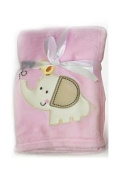 Cute and Snuggly Pink Elephant Blanket Perfect for Keeping Your Baby Cosy