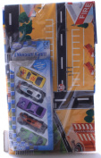 Kids Childs Giant City Playmat Floor Play Mat & 5 Set Toy Cars Road Train Track