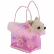 Simba Toys ChiChi Love 105891717 Mini Dog 'Fancy Feathers' in Bag White